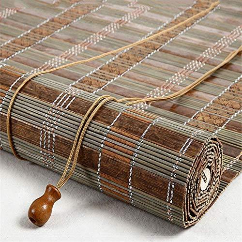 Renqian Opvouwbare bamboejaloezieën en duurzame rolluiken, waterdichte en vochtbestendige gordijnen, transparante jaloezieën, voor binnen en buiten