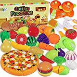 MGparty Kitchen Cutting Toys Pretend Cutting Play Food Set Cutting Fruits Vegetables Play Kitchen Set for Kids Toddlers Toys , Party Favor Christmas Stocking