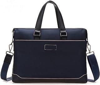 Men's Accessories Canvas Briefcase houlder Messenger Bag Crossbody Bag Holder Black for Men Business Outdoor Recreation (Color : Blue)