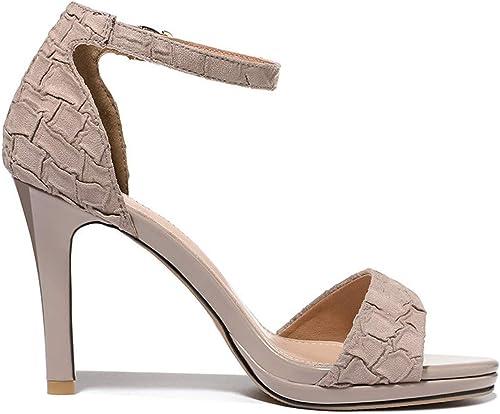 SFSYDDY Chaussures Populaires Nouveau Style Sandales Summer 9Cm Talon Haut Bien Talon 100 Séries