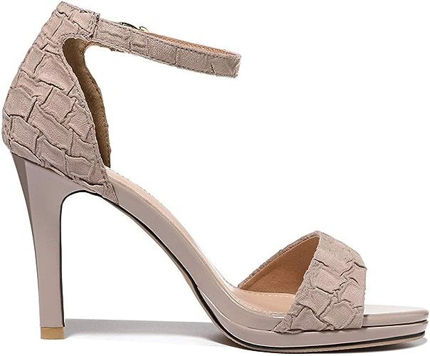 SFSYDDY Chaussures Populaires Nouveau Style Sandales été 9Cm Talon Haut Bien Talon 100 Séries