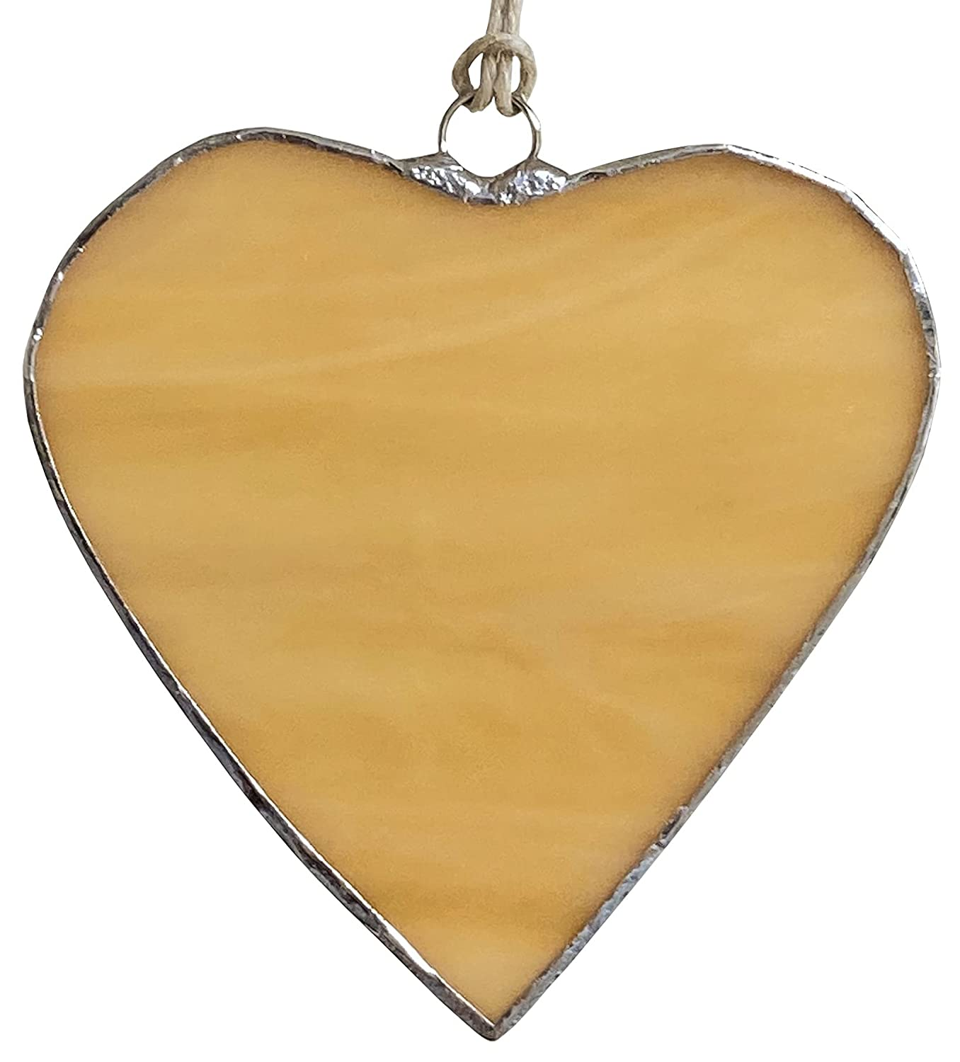 ! Super beauty product restock quality top! Beige Stained Glass Hangings Window Discount mail order Heart