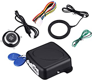 $24 » IEsafy Push Start Ignition Kit, RFID Push Button Starter, Passive Keyless Entry System with Car Alarm Fits for Most DC12V ...