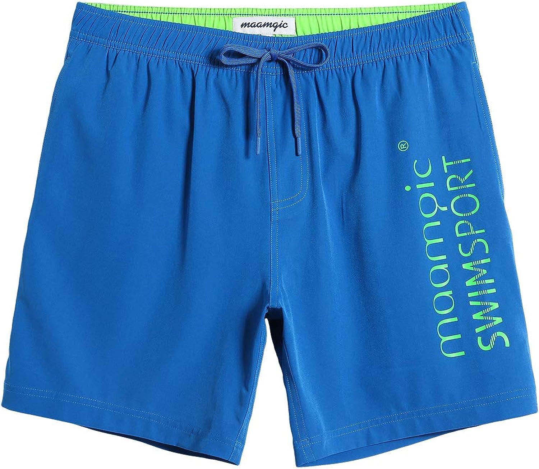 CALOLEYNG Herren Badehose 15,2 cm 4-Wege-Stretch mit Innenfutter, Reiverschluss Tasche Laufen Gym Shorts