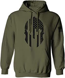 Military Come and Take Greek Molon Labe Spartan American Flag Hoodie