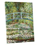 Niwo ART - Water Lily Pond 1899, by Claude Monet - Oil Painting Reproductions - Giclee Canvas Prints Wall Art for Home Decor, Stretched and Framed Ready to Hang