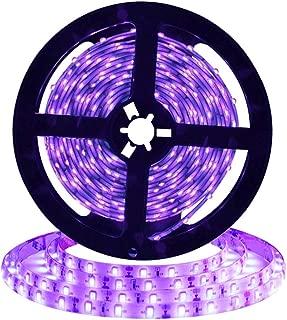 [Upgrade]UV/Ultraviolet Blacklight Waterproof LED Black Strip Lights, 16.4ft/5m Cuttable LED Light Strips, 300 Units 3528 LEDs Lighting String, Power Adapter not Included