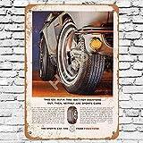 Henson 1966 Firestone Sport Auto Reifen Traditionelles Vintage Blechschild Logo 12 * 8 Werbung Blickfang Wanddekoration
