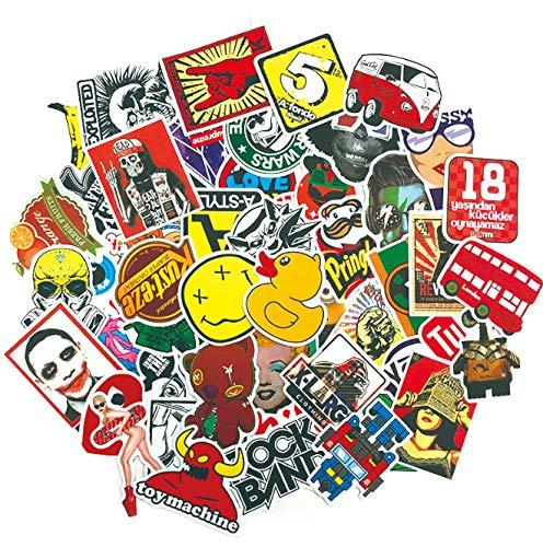 DZCYAN 100 STÜCKE Graffiti Aufkleber Anime Rock Retro Lustige Aufkleber Geschenk für Kinder Vinyl Laptop Gitarre Gepäck Skateboard Aufkleber