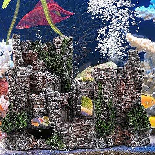 Duokon Adorno de Acuario para Acuario de Resina Artificial, decoración de Castillo de Castillo