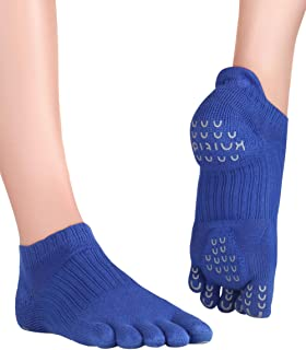 Knitido, Plus Yama, Calcetines Antideslizantes de Dedos para Pilates
