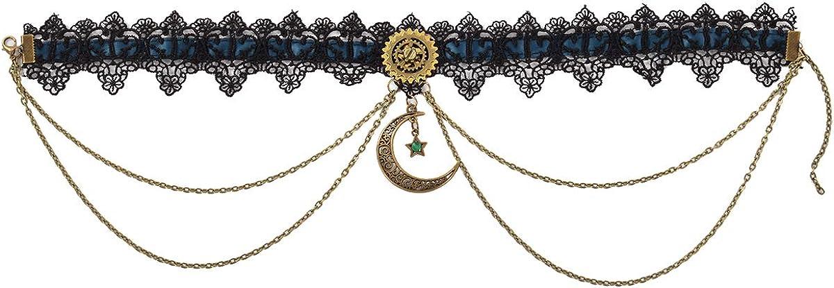 BPURB Vintage Gothic Choker Black Lace Lolita Victorian Necklace Steampunk Vampire Collar Choker Necklace