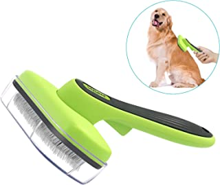 Dog Brush & Cat Brush Self Cleaning Dog Slicker Brush Easy to Clean Pet Grooming Brushes Grooming Shedding Tools for Dogs & Cats with Short or Long Hair