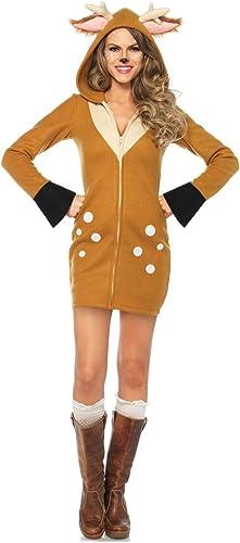 garantía de crédito Leg Avenue Avenue Avenue Cozy Fawn, mujer Carnaval Disfraz  comprar descuentos