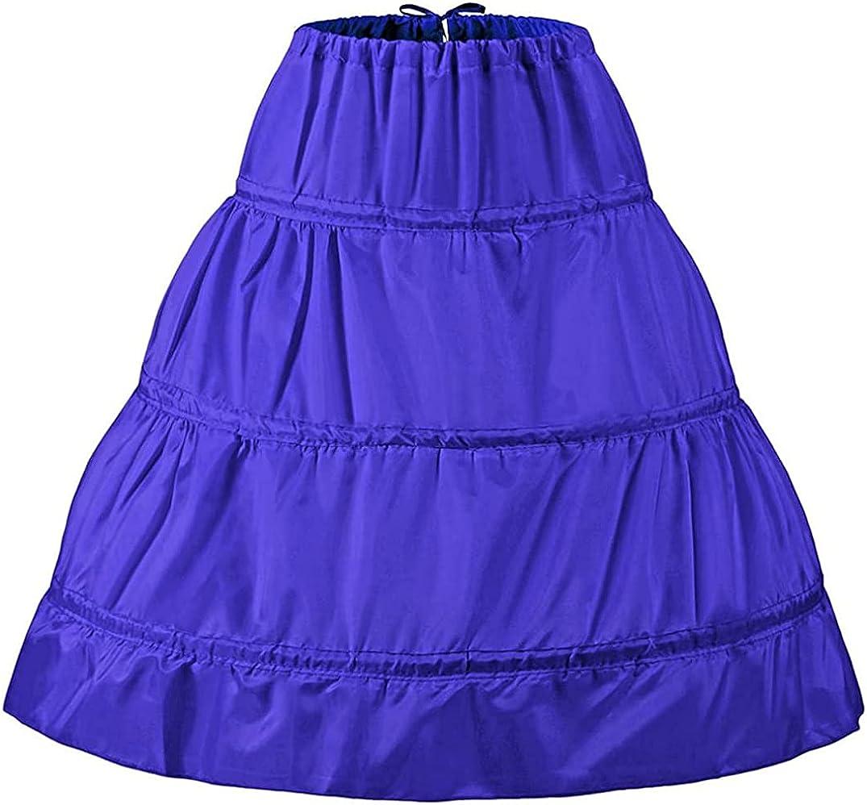 Girls' Petticoat 3 Hoops Wedding Flower Girl Slip Underskirt Crinoline APT005