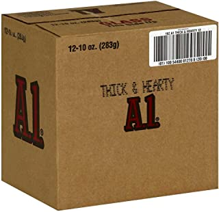 A1 Thick & Hearty Steak Sauce 10 oz (Pack of 12)