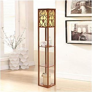WYZ LAMPADAIRE LED Lampadaire avec Affichage, 3 tablettes de Rangement, Moderne Lampe de Lecture for Chambre/Salon Décorat...