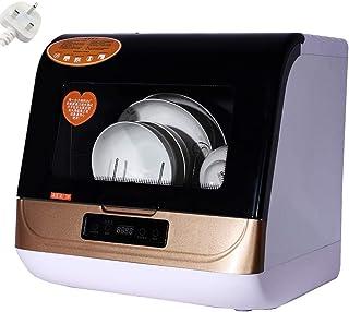SKDE Mini Lavavajillas Mesa portátil, Compacto encimera lavavajillas portátil, Completamente automático 70 ℃ Alta Temperatura de Limpieza, esterilización, Secado, Lavado rápido, estándar y Fuerte,Oro