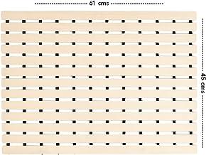 CASA-NEST PVC Shower Mat,Size=45 cms x 61 cms,Non Slip Bath Mat, Color =Beige