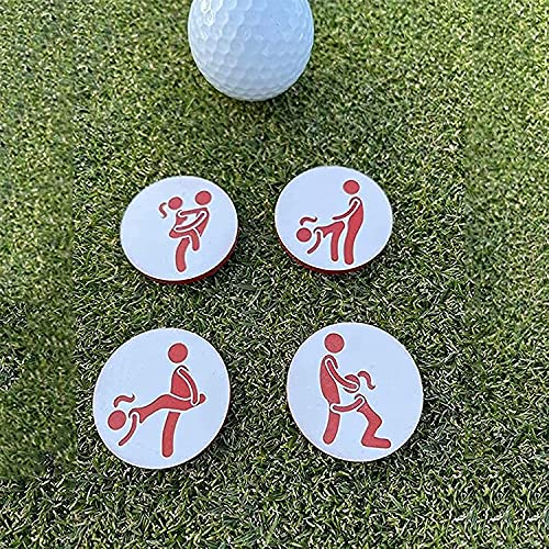 seeyoung Golf Ball Markers Adult Humor Set of 4,Handmade Golf Accessories Gift,Creative Golf Ball Marker,for Gardens,Trees,Porches,Grasslands