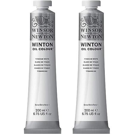 Winsor & Newton Colori Ad Olio Winton - Pacco Doppio Con 2 Tubi Da 200ml Di Bianco Di Titanio