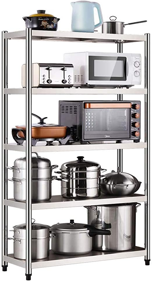 HUYYA estantería metálica Cocina Estar, 5 Niveles Estantería ...
