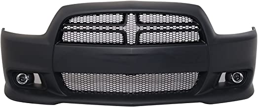 Bumper Compatible With 2011-2014 Dodge Charger | Hellcat Conversion Front Bumper Cover - PPby IKON MOTORSPORTS