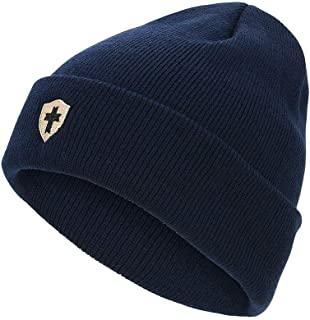 Durio Beanie for Men Winter Hats Knit Mens Beanies Soft Warm Embroidery Beanie Hat