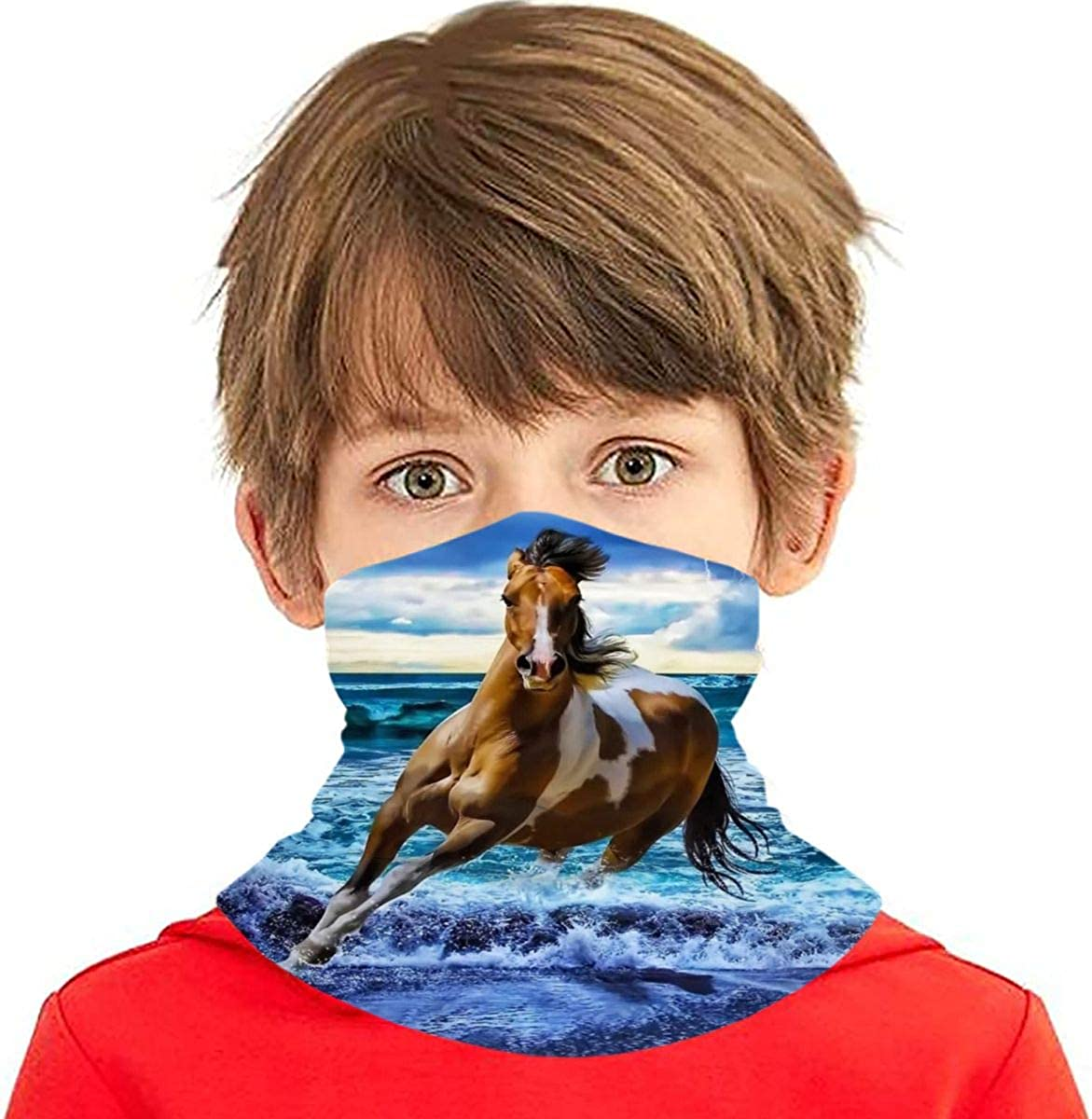 SEAL limited product Dujiea Kids Bandanas Face Mask Running Sun Horse Dust UV Max 46% OFF Protec