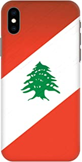 Stylizedd iPhone XS Max Slim Snap Classic Case Cover Matte Finish - Flag Of Lebanon