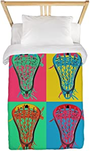 CafePress Lacrosse Big 4 Twin Duvet Twin Duvet Cover, Printed Comforter Cover, Unique Bedding, Microfiber