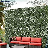 """39tall X136.5"""" Long Artificial Ivy Leaf Privacy Fence Screen Decoration Panels Windscreen Patio"""