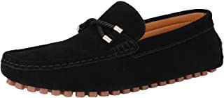 Yuruma Penny Loafers Shoes Men Suede Moccasin Casual Driving Shoes Slip On Flats Boat Shoes Dress Loafers