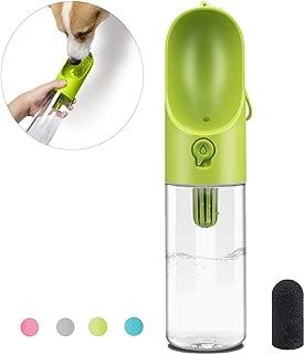 PETKIT Dog Water Bottle, Portable Dog Water Dispenser with Drinking Bowl, Leakproof and Lightweight Pet Water Bottle for Walking, Hiking, Travel, BPA Free, 400ml/14oz