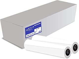 "Alliance CAD Paper Rolls, 24"" x 300', 92 Bright, 20lb - 2 Rolls Per Carton - Ink Jet Bond Rolls with 2"