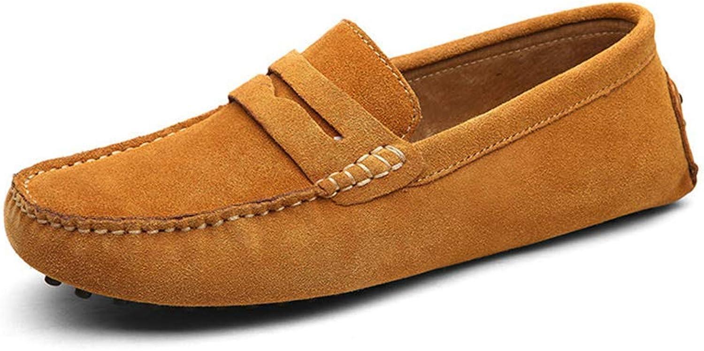 ZHRUI Männer Müßiggänger Echtes Leder Schuhe Mode Sommer Stil Weiche Mokassins Wohnungen Driving Schuhe (Farbe   Hellbraun, Größe   8UK42EU)    Outlet Store Online