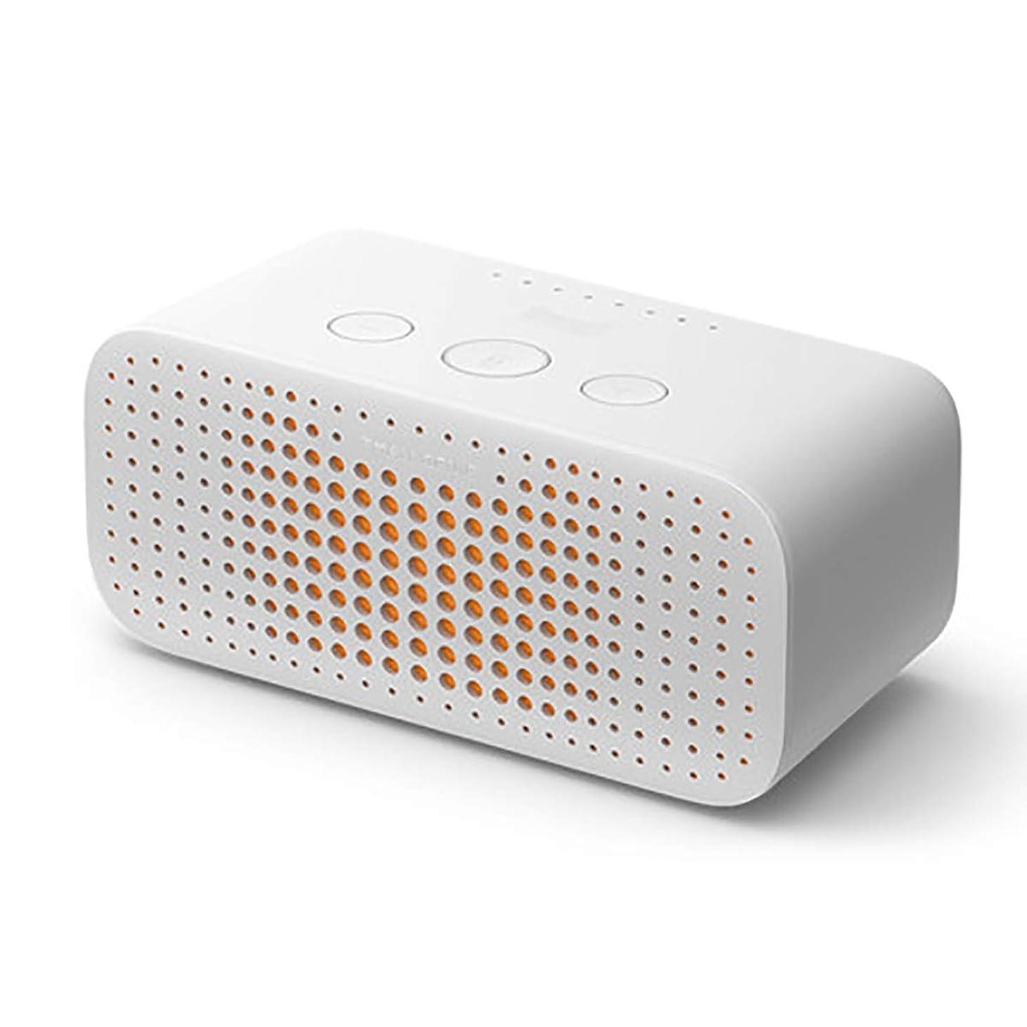 ひどく実質的最大のHXSD TmallエルフスクエアシュガーRスマートスピーカーのBluetoothオーディオ小型スマートAI目覚まし時計ホームの声知能ロボット (Color : White, Size : Standard Edition)