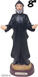 8 lnch St Charbel Sculpture Saint Charbel Makhluf Holy Figurine Statue