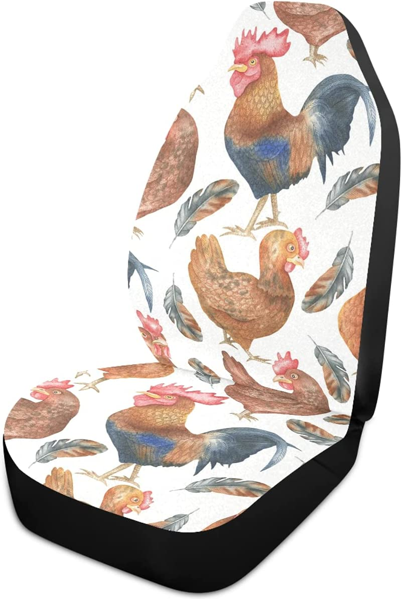 Oarencol Rooster Hen Sale Feather Animal Seat Universal Car Covers Au 5 ☆ popular