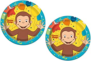 Curious George Dinner Plates for Kids Birthday Party, 8 ct, 2 Pack