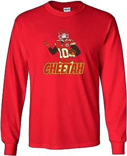 Long Sleeve RED Kansas City Hill Cheetah T-Shirt