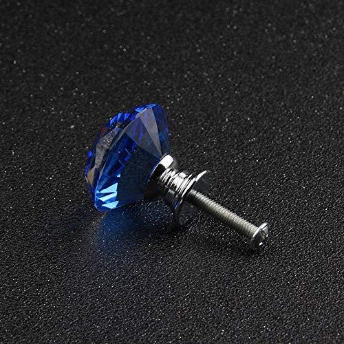 Bureze 5 stks Gratis Verzending 30mm Zwart en Elegant Luxe K9 Kristal Glas Meubelhandvat Keuken Kast Lade Dressoir Trekken Knop