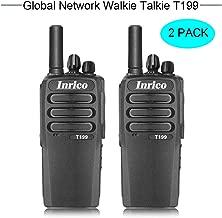 INRICO T199 5W National Intercom Support Smart-PTT/Real-PTT POC Dual sim Card WiFi Network Radio GSM WCDMA walkie Talkie 3G/2G Global PTT Two Way radios 4000mAh 2 Pack (Black)