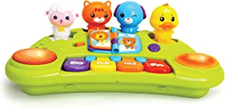JOYIN Baby Piano Keyboard Music Cute Animal Activity Center Infant Activity Education Toys with Music Lights and Animal Sounds