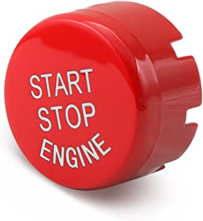 Sports Red Start Stop Engine Switch Button - 9 MOON Engine Power Ignition Start Stop Button Replacement Fits BMW 1 2 3 4 5 6 7 X1 X3 X4 X5 X6 Series 2010-2016