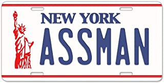 CafePress Assman - Aluminum License Plate, Front License Plate, Vanity Tag