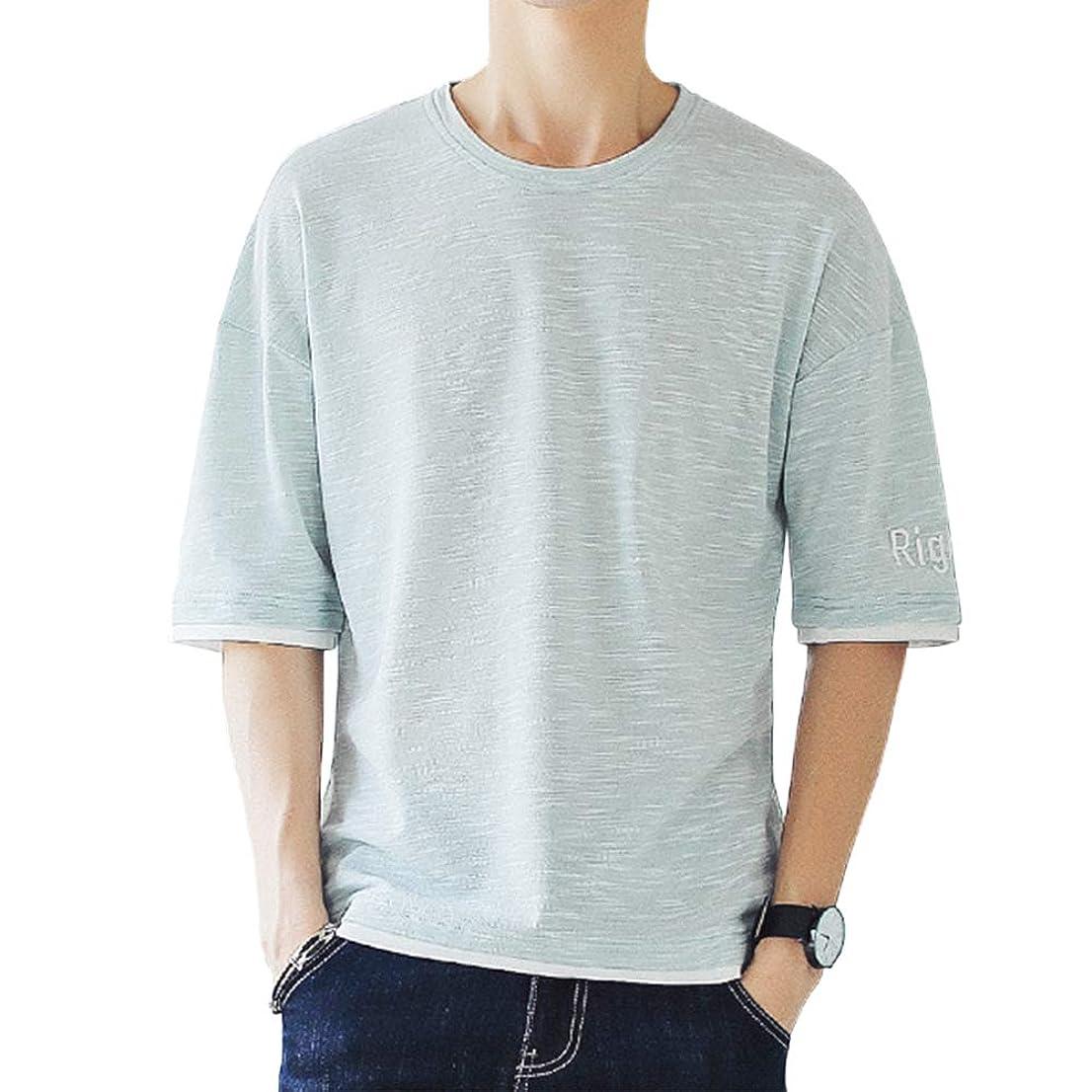 ウルル市の中心部ラバTシャツ メンズ 夏服 無地 柔らかい 夏季対応 Aumesovi 五分袖 ファッション 2019人気