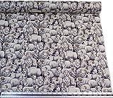 Schaf Rams Hund schwarz weiß 100% Baumwolle Hochwertiger