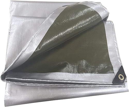 Bache épaissir écran Solaire Extérieur Multifonctionnel Imperméable Auvent Tissu en Plastique Plusieurs Tailles Peuvent être Personnalisés GMING (Couleur   argent, Taille   5x6M)