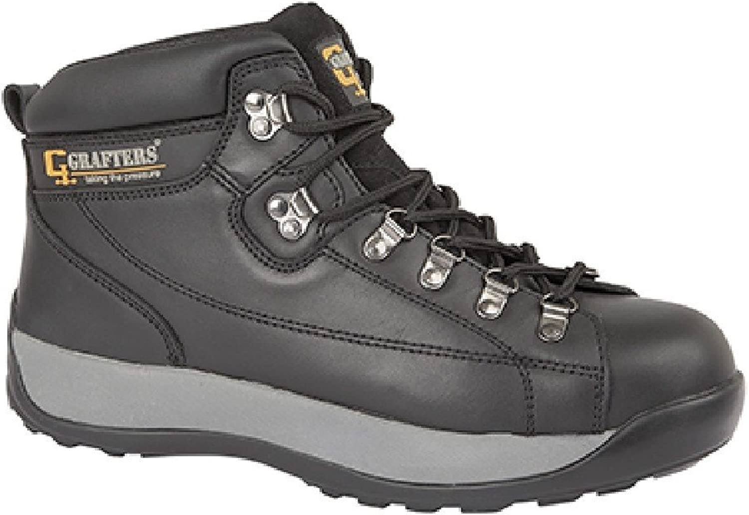 Grafters Unisex SB SRA Oily Leather Safety Boots Black